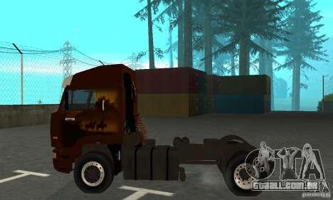 KAMAZ 5460 4 pele para GTA San Andreas traseira esquerda vista
