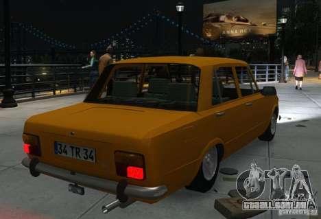Fiat 124 para GTA 4 vista interior