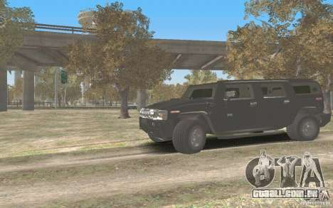 Hummer H2 Stock para GTA San Andreas esquerda vista