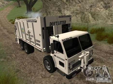 Caminhão de lixo do GTA 4 para GTA San Andreas vista interior