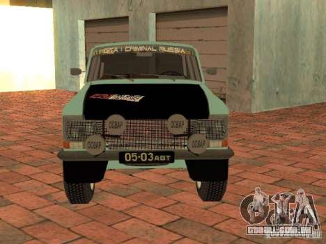 Versão de Rally Moskvich 412 para GTA San Andreas vista direita