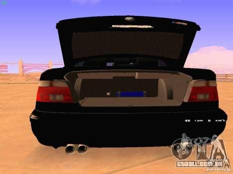 BMW M5 E39 Stanced para GTA San Andreas vista direita