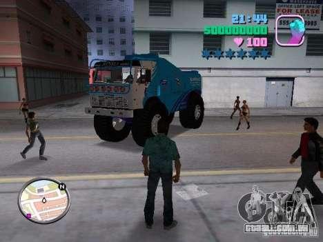 Kamaz Master para GTA Vice City vista traseira