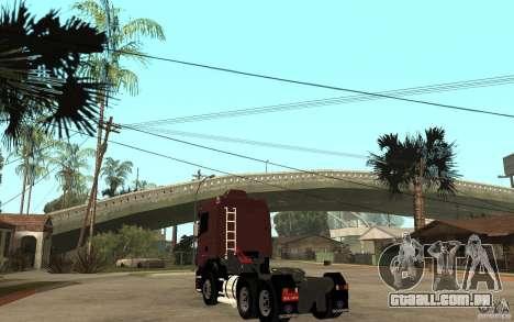Scania 124 R480 6x4 Truck 1 para GTA San Andreas traseira esquerda vista