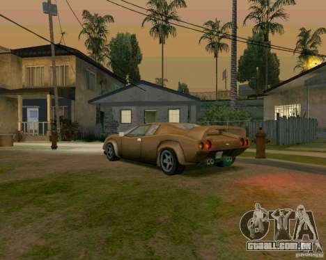 Infernus from Vice City para GTA San Andreas vista direita