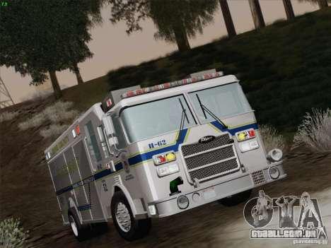Pierce Fire Rescues. Bone County Hazmat para GTA San Andreas vista superior