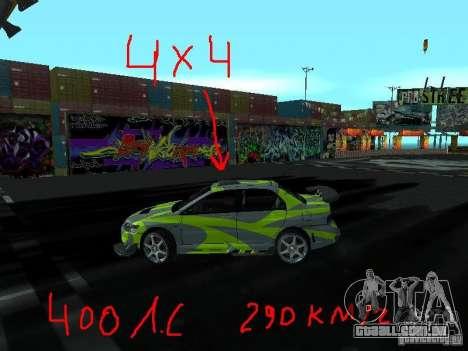 Drift mod para GTA San Andreas segunda tela