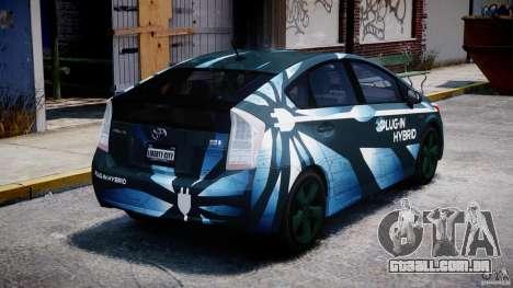 Toyota Prius 2011 PHEV Concept para GTA 4 vista lateral