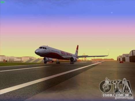 Tupolev Tu-204 Red Wings Airlines para GTA San Andreas vista traseira