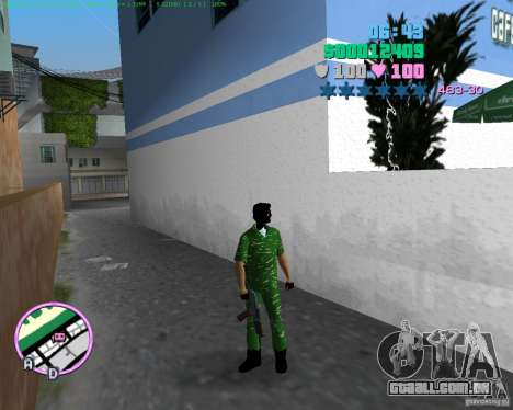 AK-74U para GTA Vice City terceira tela