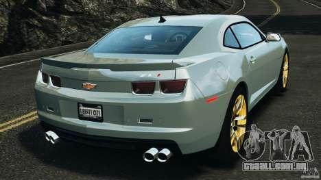 Chevrolet Camaro ZL1 2012 v1.2 para GTA 4 traseira esquerda vista
