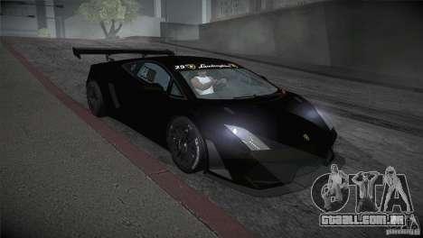 Lamborghini Gallardo LP560-4 GT3 para GTA San Andreas vista traseira