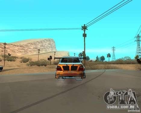 Subaru Impreza WRX Team Orange DRIFT SA-MP para GTA San Andreas traseira esquerda vista