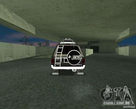 Toyota Surf v2.1 para GTA San Andreas esquerda vista