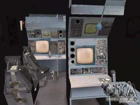 AC-130 Spooky II para GTA San Andreas vista interior