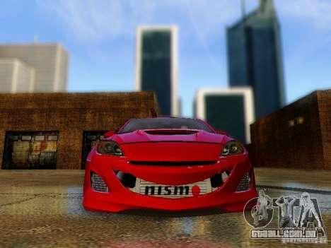 Mazda Speed 3 2010 para GTA San Andreas vista traseira