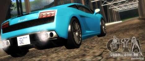 Lamborghini Gallardo LP560-4 para GTA San Andreas vista inferior