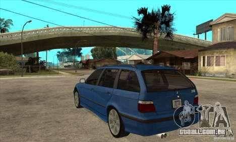 BMW 318i Touring para GTA San Andreas vista traseira