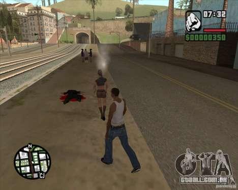 Transeuntes explodindo os miolos para GTA San Andreas segunda tela