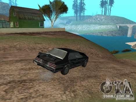 Romano é taxi do GTA 4 para GTA San Andreas vista interior