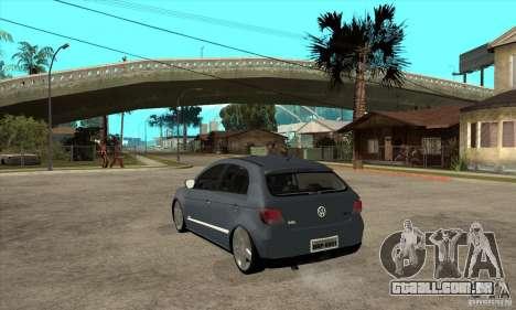 Volkswagen Gol G5 para GTA San Andreas traseira esquerda vista