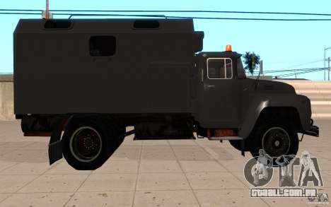 ZIL 130 rádio Butka para GTA San Andreas vista direita