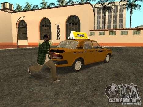 GAZ 3110 táxi para GTA San Andreas traseira esquerda vista