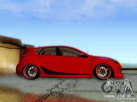 Mazda Speed 3 2010 para GTA San Andreas vista direita