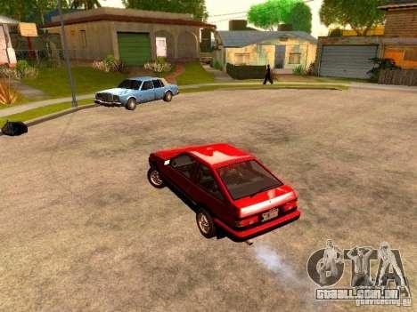 Toyota Corolla Carib AE 86 para GTA San Andreas traseira esquerda vista