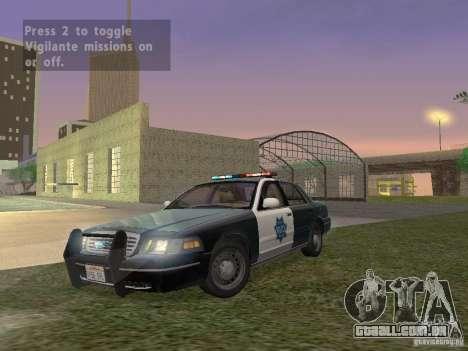 LowEND PCs ENB Config para GTA San Andreas por diante tela