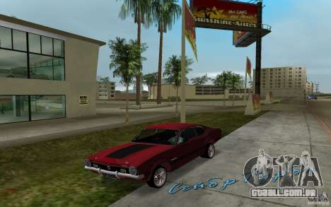 Ford Maverick GT 1975 para GTA Vice City deixou vista