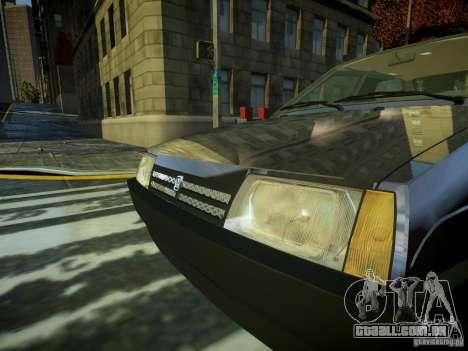VAZ 2109 para GTA 4 vista de volta