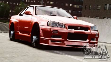 Nissan Skyline GT-R (R34) Stance para GTA 4