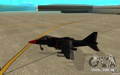 Black Hydra v2.0 para GTA San Andreas traseira esquerda vista