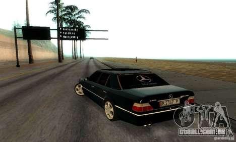 Mercedes-Benz W124 E420 AMG para GTA San Andreas vista direita