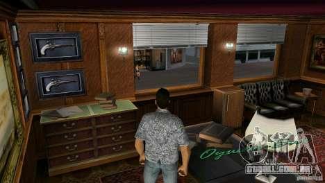 Oportunidade de introduzir os interiores para GTA Vice City terceira tela