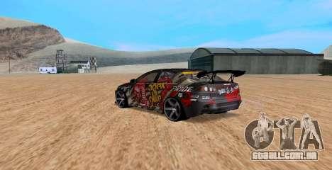 Mitsubishi Lancer Evolution RYO Vatanabe para GTA San Andreas esquerda vista
