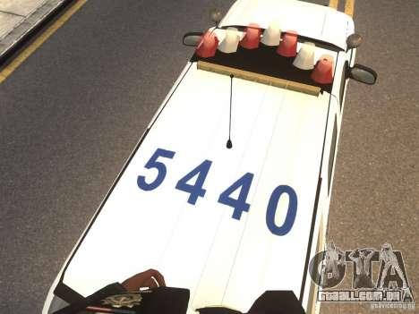 Chevrolet Tahoe NYPD V.2.0 para GTA 4 vista de volta