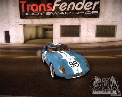 Shelby Cobra Daytona Coupe 1965 para GTA San Andreas vista traseira