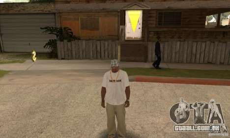 LP shirt white para GTA San Andreas terceira tela