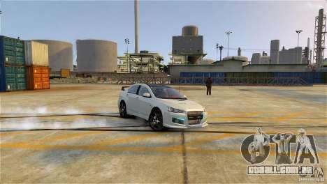 Mitsubishi Lancer Evo X para GTA 4 esquerda vista