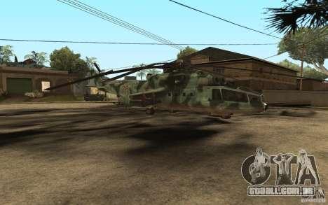 MI-24A para GTA San Andreas esquerda vista