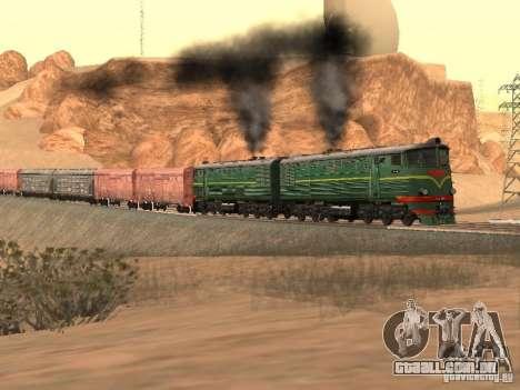 Te3 para GTA San Andreas vista traseira