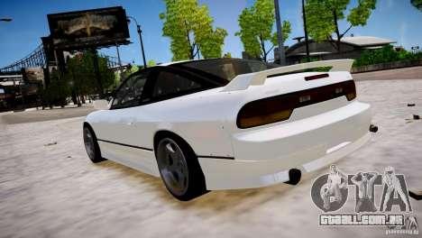 Nissan 240SX Drift para GTA 4 traseira esquerda vista