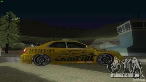 Subaru Impreza WRX No Fear para GTA San Andreas vista direita