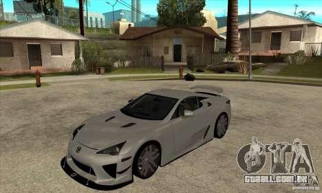 Lexus LFA 2010 para GTA San Andreas