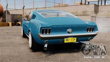 Ford Mustang Customs 1967 para GTA 4 traseira esquerda vista