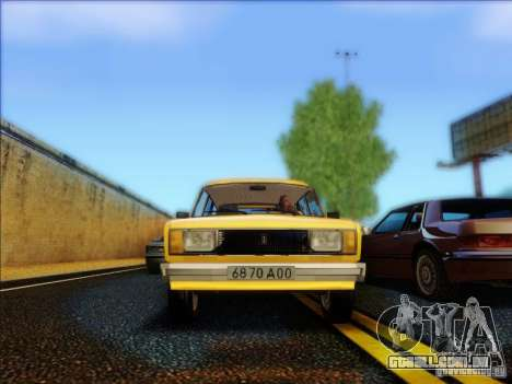 VAZ 2104 táxi para GTA San Andreas vista interior