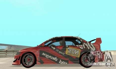 Mitsubishi Lancer Evolution 8 para GTA San Andreas vista direita