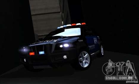 NFS Undercover Police SUV para GTA San Andreas vista superior